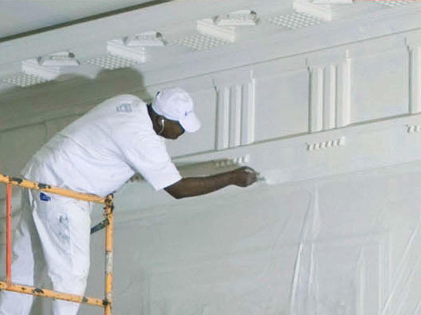 Painting dubai wall painting professional painter dubai tbnts - Interior exterior painting services set ...